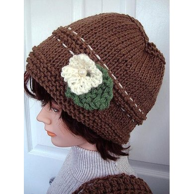 680 KNITTED Taupe Hat, baby to adult