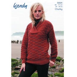 Unisex Sweater in Wendy Norse Chunky - 5694