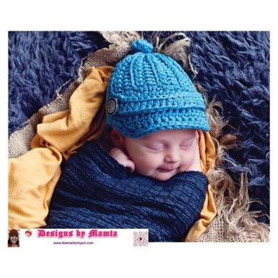 Crochet Newsboy Apple Jack Hat Pattern Designer