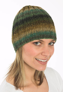 Ribbed Hat in in Plymouth Boku - F191