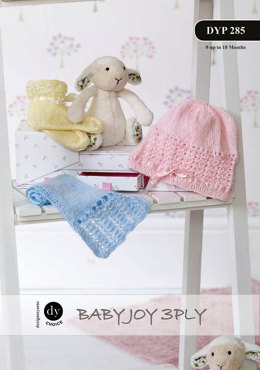 Hat, Scarf and Bootees in DY Choice Baby Joy 3 ply - Downloadable PDF