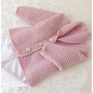Versatile Baby Cardigan Or Vest With Shawl Collar P081 Knitting