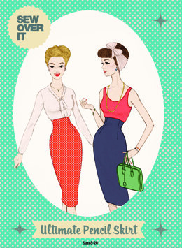 Sew Over It Ultimate Pencil Skirt - Downloadable PDF, Size UK 8-20