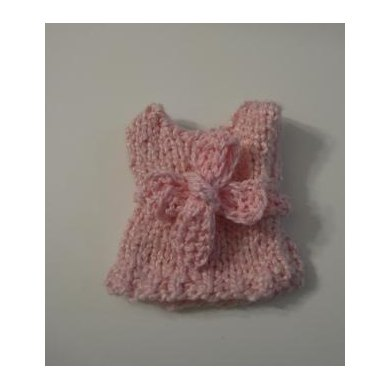 Knitkinz Pink Easter Dress
