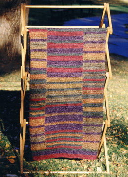 Crochet Prairie Stripes Throw in Lion Brand Homespun - 1294A