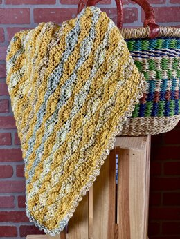 EASY Staggered Shell Baby Blanket