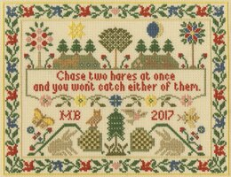 Bothy Threads Two Hares Cross Stitch Kit