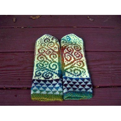 The Tree of Life Mittens