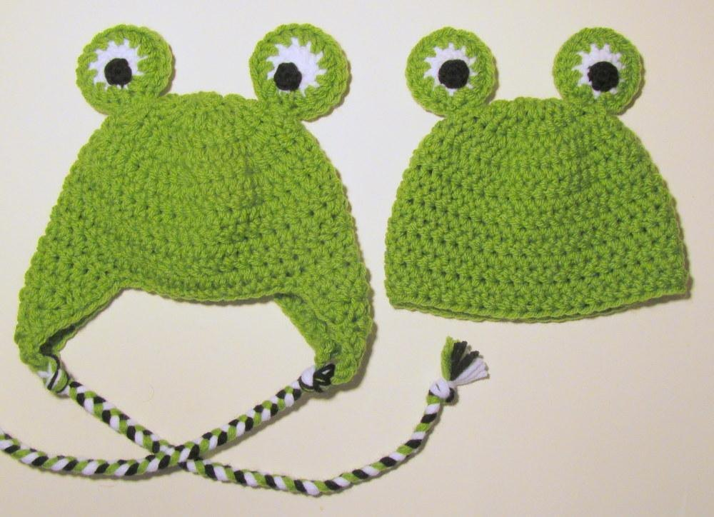 Frog Hat Newborn To Adult Crochet Pattern By Heather