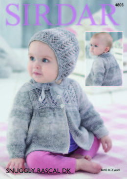 Jacket and Bonnet in Sirdar Snuggly Rascal DK - 4803 - Downloadable PDF