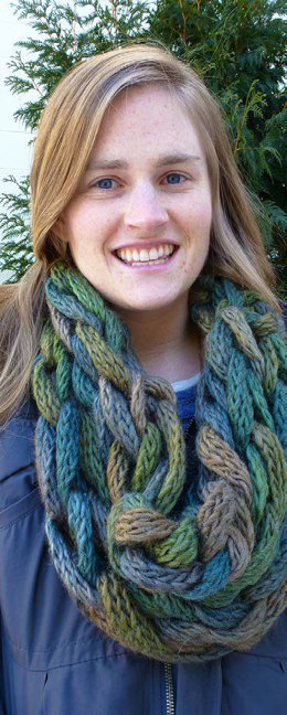 Arm Knit Cowls in Berroco Link - Downloadable PDF