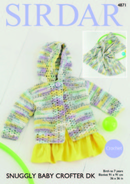 Jacket & Blanket in Sirdar Snuggly Baby Crofter DK - 4871 - Downloadable PDF