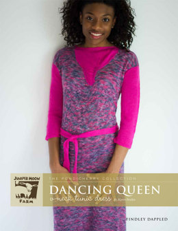 Dancing Queen V-Neck Tunic Dresses in Juniper Moon Farm Findley and Findley Dappled