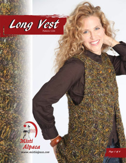 Long Vest in Misti Alpaca Ayllu Overdye Aran - 1226 - Downloadable PDF