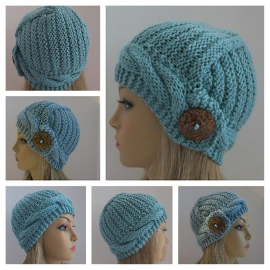 Elenna - The Hat with A Diagonal Design
