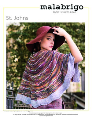 St. Johns Shawl in Malabrigo Arroyo - Downloadable PDF