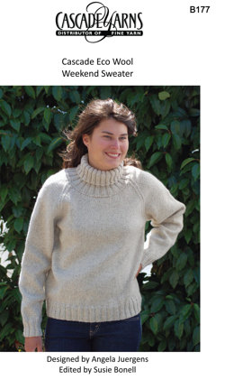 Weekend Sweater in Cascade Ecological Wool - B177
