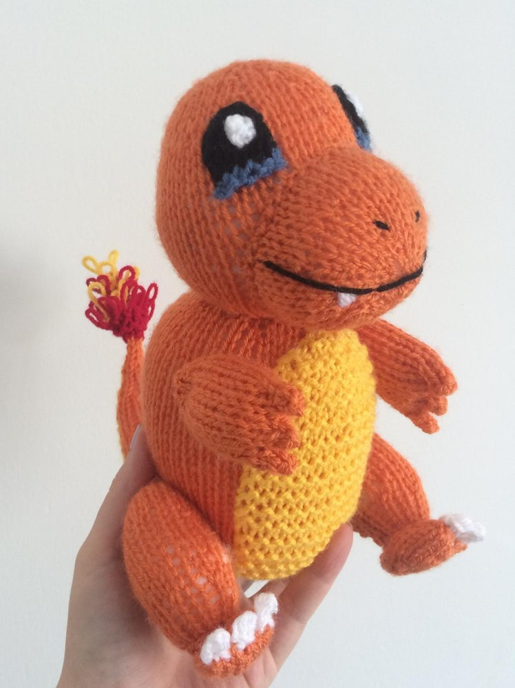 Charmander Pokemon Amigurumi Knitting Pattern By Emma Whittle