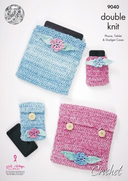 Crochet Gadget Accessories in King Cole Vogue DK - 9040