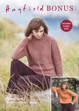 Sweater in Hayfield Bonus Aran Tweed with Wool - 8227 - Downloadable PDF