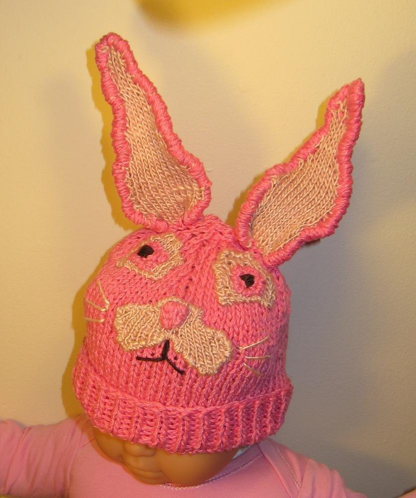 FREE Baby Easter Bunny Beanie Hat Knitting pattern by madmonkeyknits ...