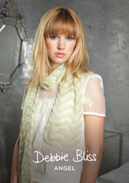 Paige Scarf in Debbie Bliss Angel- DBS008 - Downloadable PDF