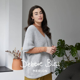 """Clara"" - Cape and Poncho Knitting Pattern Women in Debbie Bliss Merion by Debbie Bliss"