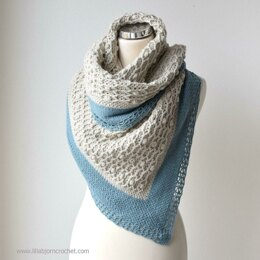 Shells and Stones Cabled Shawl