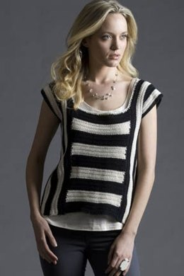Blackbird Crochet Striped Top in Tahki Yarns Cotton Classic Lite