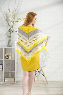 Sunshiny Day Shawl in Premier Yarns DK Colours - Downloadable PDF