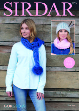 Scarf, Snood & Hat in Sirdar Gorgeous Ultra Super Chunky - 8095 - Downloadable PDF