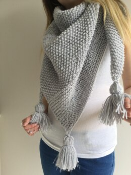Sea Silver Shawl - toddler to adult