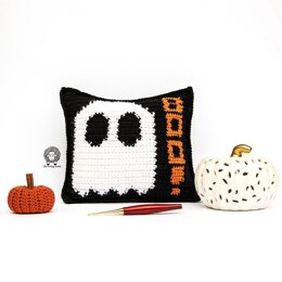 Mad About Boo Halloween Pillow