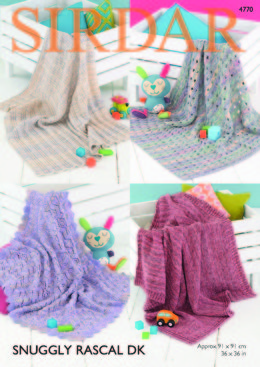 Blankets in Sirdar Snuggly Rascal DK - 4770 - Downloadable PDF