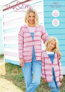 Cardigan & Sweater in Stylecraft You & Me - 9821 - Downloadable PDF