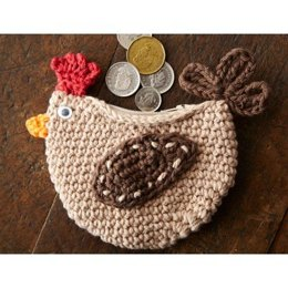Cluck Cluck Change Purse in Lily Sugar and Cream Solids