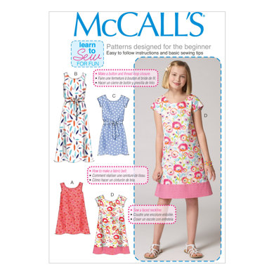 McCall's Children's/Girls' Dresses and Belt M7111 - Sewing Pattern