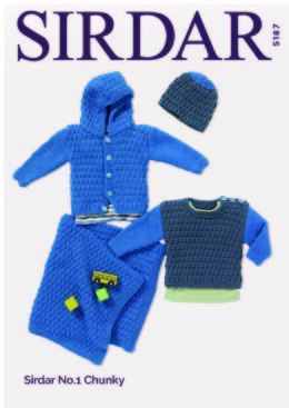 Jacket & Accessories in Sirdar No.1 Chunky  - 5187 - Downloadable PDF