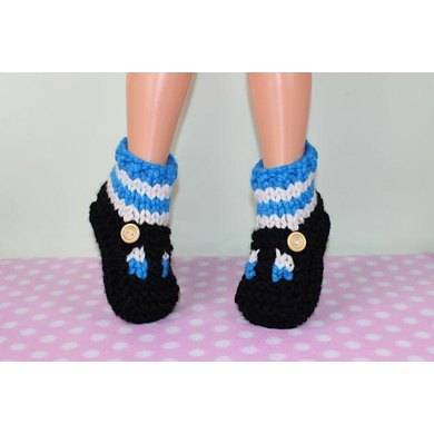 Knitting Pattern For Sandal Socks : Childrens Super Chunky Stripe Sock T Bar Sandal Slippers Knitting pattern by ...