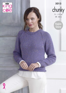 Sweaters in King Cole Chunky Tweed - 5015 - Downloadable PDF