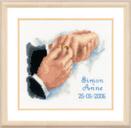 Vervaco With This Ring... Cross Stitch Kit - 19cm x 16cm