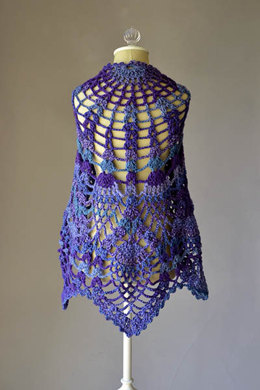 Pineapple Peacock Shawl in Universal Yarn Major - Downloadable PDF