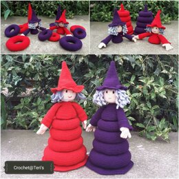 Amigurumi Friendly Witch Ring Stackers