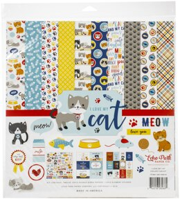 "Echo Park Paper Echo Park Collection Kit 12""X12"" - I Love My Cat"