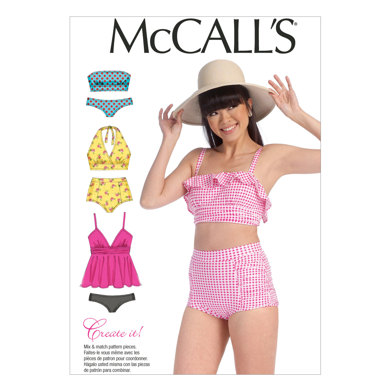 McCall's Misses' Swimsuits M7168 - Sewing Pattern