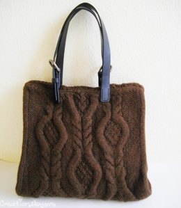 Brown cabled bag