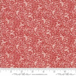 Moda Fabrics 3 Sisters Snowberry Snow Berry Floral Aviary Red