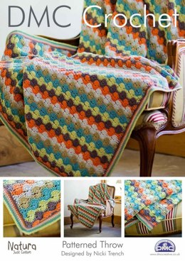Patterned Throw in DMC Natura Just Cotton - 14939L/2