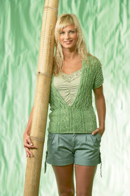 Green Sweater with Lace in Schachenmayr Sun City - 6291 - Downloadable PDF