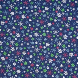 LoveCrafts Christmas Village - Snowflakes Navy